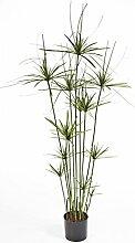 Künstliche Papyrus-Staude RAMSES, 210 Blätter, grün, DELUXE, 140 cm - Cyperus / künstliche Pflanze - artplants