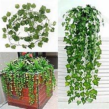 Künstliche Pflanze Grün-Blätter Garland Home