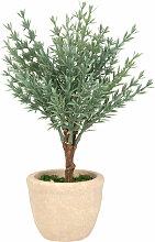 Künstliche Pflanze im Zementtopf