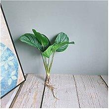 Künstliche Pflanze Luxus gemusterte grüne Ficus