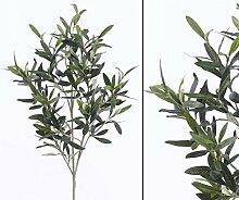 Künstliche Pflanze Olivenzweig UV-sicher mit 234 Blätter, Länge 90cm - Kunstpflanze künstliche Blumen Kunstblumen Blumensträuße künstlich, Seidenblumen oder Blumen aus Plastik Kunststoff
