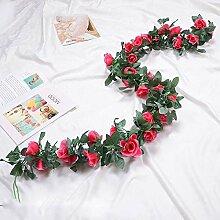 Künstliche Pflanze Rose Rebe Home Dekoration