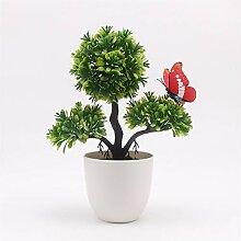 Künstliche Pflanzen Bonsai Kleine Baum Topf
