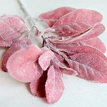 Künstliche Pflanzen Grün Rot Blätter Dekoration