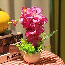 Künstliche Pflanzen Topiary Töpfe Bonsai Home Decoration Seide Topfpflanze Blume Pflanze (sehr viel Farbe) in einem modernen , z
