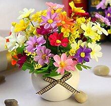 Künstliche Pflanzen Topiary Töpfe Bonsai Home Decoration Seide Topfpflanze Blume Pflanze (sehr viel Farbe) in einem modernen , G