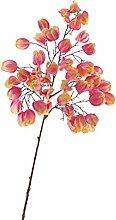 Künstliche Physalis mit 50 Früchten, rosa-gelb, 95 cm - Herbstdekoration / Künstlicher Zweig - artplants