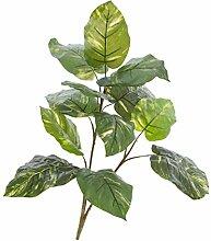Künstliche Pothos-Pflanze auf Steckstab, 15 Blätter, grün-gelb, 90 cm - Kunstpflanze / Künstliche Zimmerpflanze - artplants