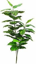 Künstliche Pothos-Pflanze auf Steckstab, 40 Blätter, grün-gelb, 150 cm - Kunstpflanze / Künstliche Zimmerpflanze - artplants