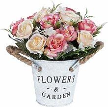 Künstliche Rose Blumentopf, gefälschte Blumen