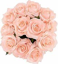 Künstliche Rosen, echt, echt, Hochzeitsstrauß