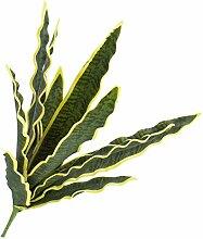 Künstliche Sansevieria-Pflanze auf Steckstab, gelb-grün, 50 cm - outdoor - Künstliche Zimmerpflanze - artplants