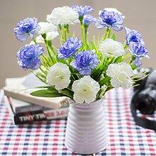 Künstliche Seide Mini Blumen und Pflanzen für Indoor Dekoration (sehr viel Farbe) in einem Topf Fake Hanging Reben Pflanze Blätter Girlande Haus Garten Wand vergossen 35cm , #133
