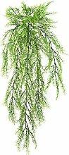 Künstliche Spargelkrautranke mit 11 Zweigen, grün, 75 cm - Künstliche Ranken / Kunstpflanze - artplants