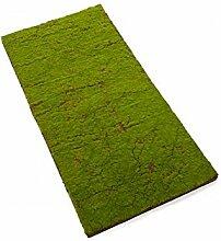 Künstliche Styropor Fliese mit Moos, grün-braun, 100 x 50 cm - Deko Moos / Kunst Moos - artplants