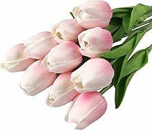 Künstliche Tulpe Blumenstrauß Seide Blumen Dekoration für Zuhause Hochzeit Party hellrosa