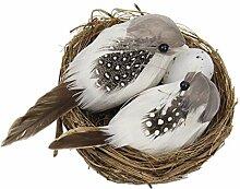 Künstliche Vogelnestei kreative Gartenskulptur