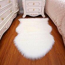 Künstliche Wolle Unregelmäßige Teppich Langes