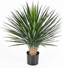 Künstliche Yucca Rostrata mit 176 Blättern, DELUXE, 80 cm - Kunstbusch / Yucca Kunstpflanze - artplants