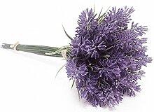 künstlichen PVC Blumen Lavender Bouquet in lila Pflanze für Home Decor, plastik, violett, 9.8