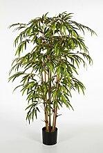 Künstlicher Bambus-Strauch HIROSHI, 1680 Blätter, grün, 210 cm - Bambus künstlich / asiatische Kunst Pflanze - artplants