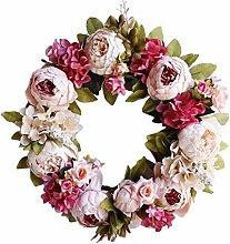 Künstlicher Blumenkranz, handgefertigt,