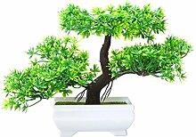 Künstlicher Bonsai-Baum 18cm quadratischer