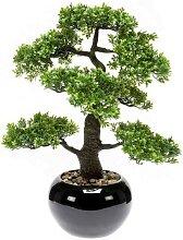 künstlicher Bonsai FICUS H. 47cm grün in