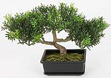 Künstlicher Bonsai im Töpfchen mit 100 Teeblatt