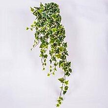 Künstlicher Efeuranke mit 350 Blättern, grün - weiß, 100 cm - Künstliche Pflanzen Efeu / Kunstefeu - artplants