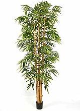 Künstlicher Großblättriger Bambus-Riese KIYOSHI, 1545 Blätter, grün, 300 cm - Deko Bambus / exotische Kunst Pflanze - artplants