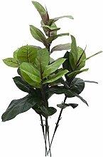 Künstlicher Gummibaum mit 38 Blättern, 3-stämmig, 90 cm - Künstliche Zimmerpflanze / Deko Baum - artplants