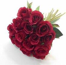 Künstlicher Mini-Rosenstrauß mit 15 Rosen mit