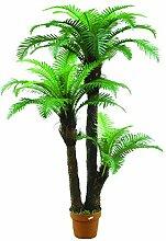 Künstlicher Palmfarn mit 43 Wedeln, 3-stämmig, 160 cm - Künstliche Palme / Kunstpalme - artplants