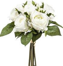 künstlicher Rosenstrauß mit 6 Rosen und