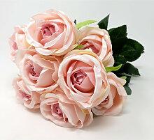 künstlicher Rosenstrauß rosa L. 44cm Formano