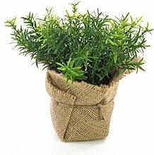 Künstlicher Thymian VITUS im Jutesack, grün, 18 cm - Kunstpflanze / Kräuter Pflanze - artplants