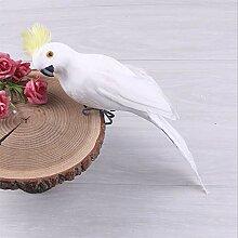 Künstlicher Vogel, Feder, realistische Papageien,