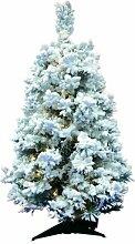 Künstlicher Weihnachtsbaum 30 cm Weiß mit 100