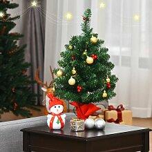 Künstlicher Weihnachtsbaum 61 cm Grün mit 15