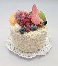 Künstliches Frucht Törtchen Tartelet Cupcake 8cm Kuchen Küche Restaurant Konditorei Dekoration Home Deko