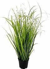 Künstliches Gras Pusteblume im Topf Kunstpflanze