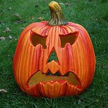 Kürbiswindlicht Kürbis Deko großes Windlicht Kürbiskopf Herbstdeko Halloween