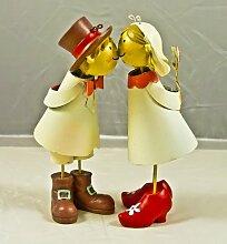 Küssendes Brautpaar Hochzeit Dekoration Knutschies