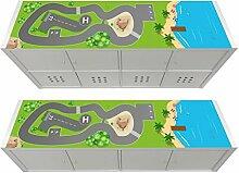 Küstenstadt Möbelfolie passend für das Regal KALLAX von IKEA - KSWL13 (Möbel nicht inklusive)