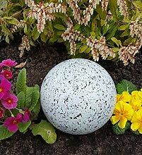 Kugel aus Edelstahl 15 cm Dekokugel Granit weiß
