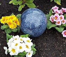 Kugel aus Edelstahl 15 cm Dekokugel Marmor blau