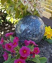 Kugel aus Edelstahl 25 cm Dekokugel Granit