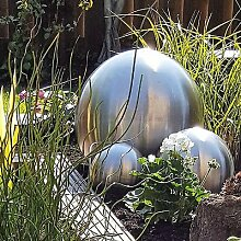 Kugel aus Edelstahl 25 cm matt Dekokugel