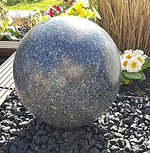 Kugel aus Edelstahl 35 cm Dekokugel Granit